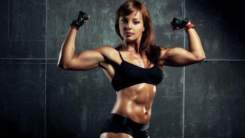 性感美女强悍健身秀结实腹肌